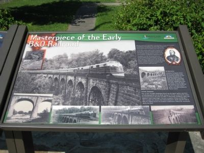 Masterpiece of the Early B&O Railroad Marker image. Click for full size.