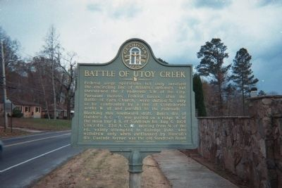 Battle of Utoy Creek Marker image. Click for full size.