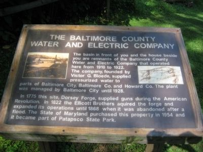 The Baltimore County Water and Electric Company Marker image. Click for full size.