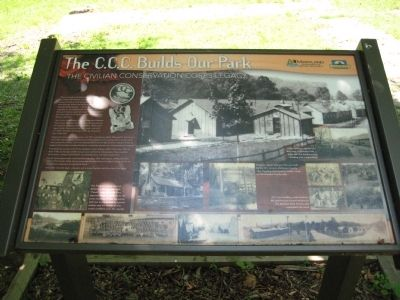 The C.C.C. Builds Our Park Marker image. Click for full size.