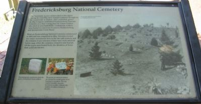 Fredericksburg National Cemetery Marker image. Click for full size.