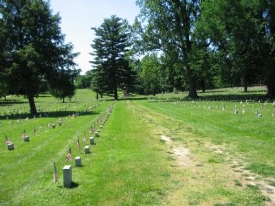 Fredericksburg National Cemetery image. Click for full size.