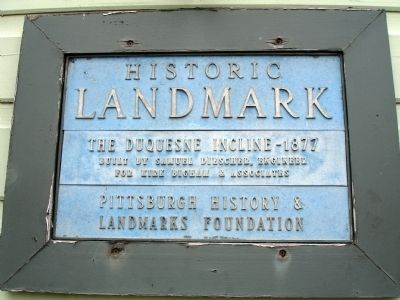 Duquesne Incline Marker image. Click for full size.