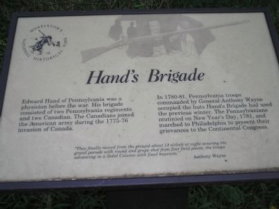 Hand's Brigade Marker image. Click for full size.