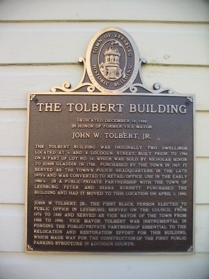 The Tolbert Building Marker image. Click for full size.