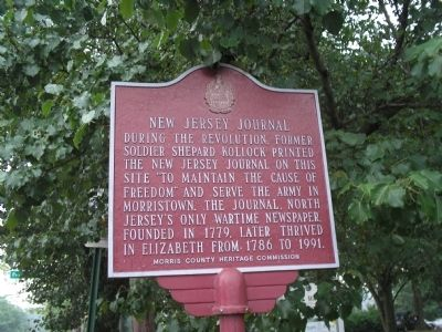 New Jersey Journal Marker image. Click for full size.