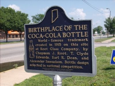 Birthplace of the Coca-Cola Bottle Marker image. Click for full size.