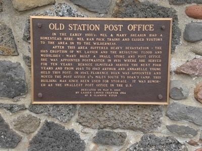 Old Station Post Office Marker image. Click for full size.