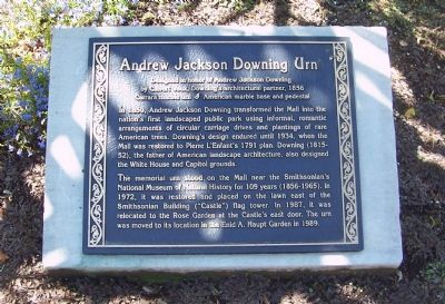 Andrew Jackson Downing Urn Marker (1989) image. Click for full size.