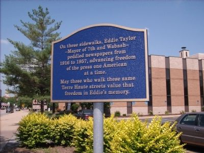 "Eddie Taylor - - ""Mayor of 7th and Wabash"" Marker image. Click for full size."