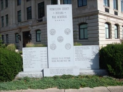 Vermillion County Indiana - - War Memorial Marker image. Click for full size.