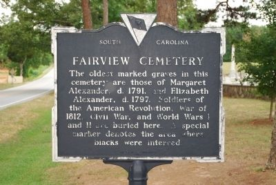 Fairview Church/Fairview Cemetery Marker image. Click for full size.