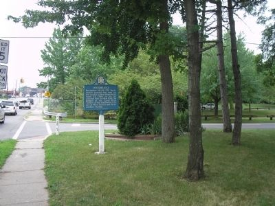 Marker on Amboy Avenue image. Click for full size.
