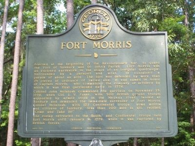 Fort Morris Marker image. Click for full size.