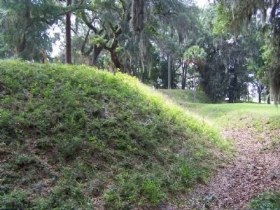 Fort Morris east moat area image. Click for full size.