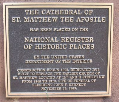 The Cathedral of St. Matthew the Apostle Marker image. Click for full size.