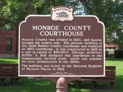 Monroe County Courthouse Marker image. Click for full size.