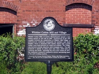 Whittier Cotton Mill and Village Marker image. Click for full size.