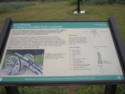 D'Annae: A French, Swedish-Style 4-pounder Marker (old location) image. Click for full size.