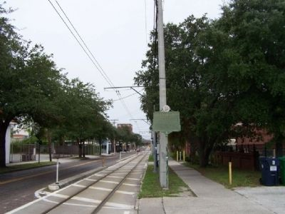 Historic Fort King Trail Marker, looking west along 8th Ave. image. Click for full size.