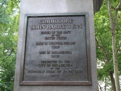 Commodore John Barry, U. S. N. Statue image. Click for full size.
