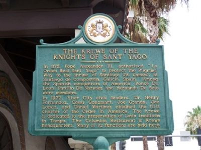 The Krewe of the Knights of Sant' Yago Marker image. Click for full size.