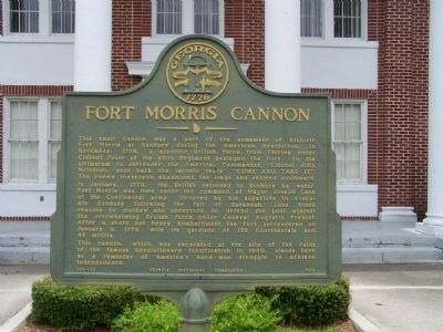 Fort Morris Cannon Marker image. Click for full size.