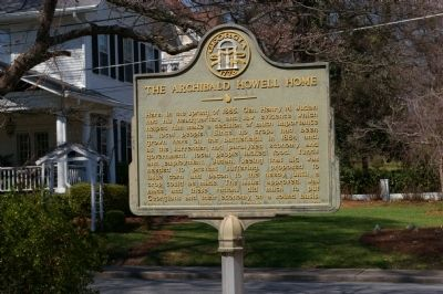 The Archibald Howell Home Marker image. Click for full size.