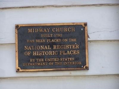 Midway Congregational Church Marker image. Click for full size.