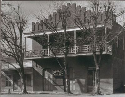 Imperial Hotel (photo courtesy of the Bancroft Collection, Univ. of California) image. Click for full size.