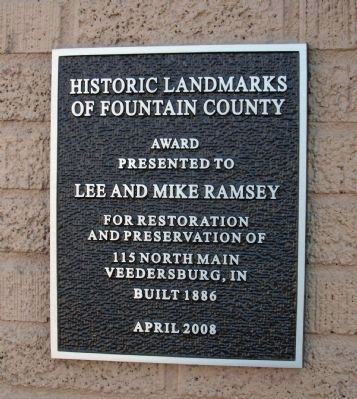 Lee and Mike Ramsey Marker image. Click for full size.