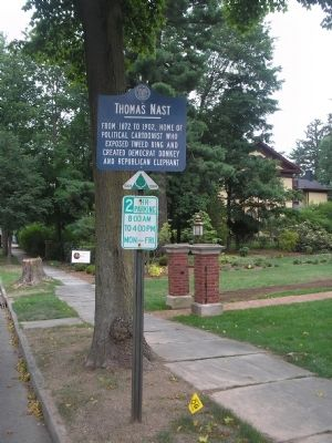 Marker on MacCulloch Avenue image. Click for full size.