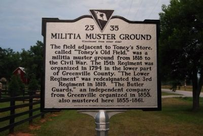 Militia Muster Ground Marker image. Click for full size.