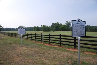 Toney's Store / Militia Muster Ground Marker and the Hopkin's Farm Marker image. Click for full size.
