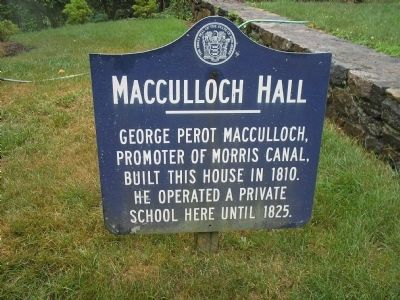 Macculloch Hall Marker image. Click for full size.