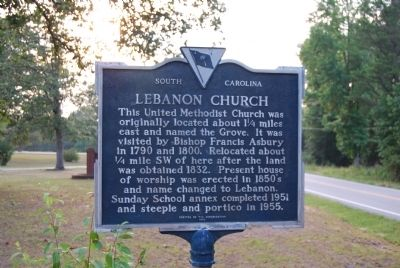 Lebanon Church Marker image. Click for full size.