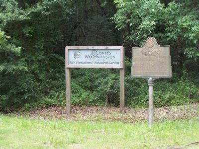Woodmanston Plantation Marker image. Click for full size.
