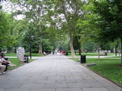 Tree lined walk into Washington Square. image. Click for full size.