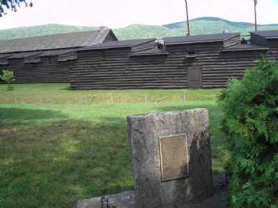 Marker with Fort William Henry image. Click for full size.