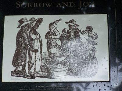 Drawing on the Sorrow and Joy marker. image. Click for full size.