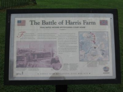 The Battle of Harris Farm Marker image. Click for full size.