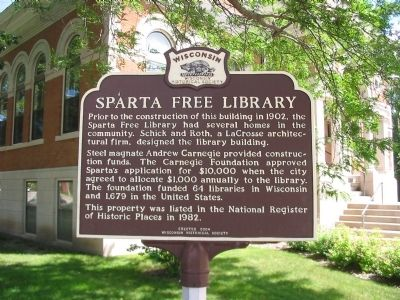 Sparta Free Library Marker image. Click for full size.
