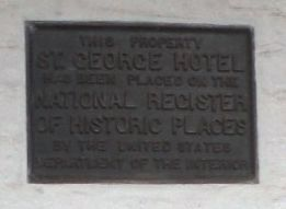 St. George Hotel National Register of Historic Places Marker image. Click for full size.