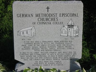 German Methodist Episcopal Churches Marker image. Click for full size.