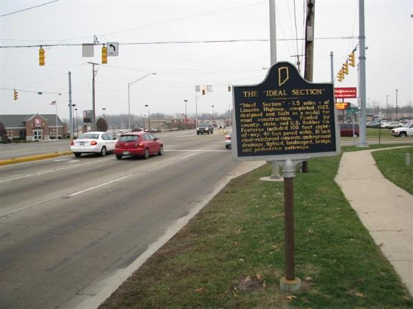 "The Lincoln Highway / The ""Ideal Section"" Marker"