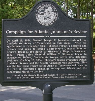 Campaign for Atlanta: Johnston`s Review Marker image. Click for full size.