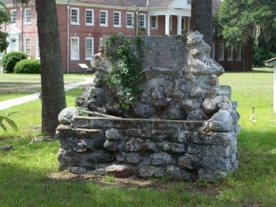 Dorchester Academy water fountain remains from a razed building image. Click for full size.