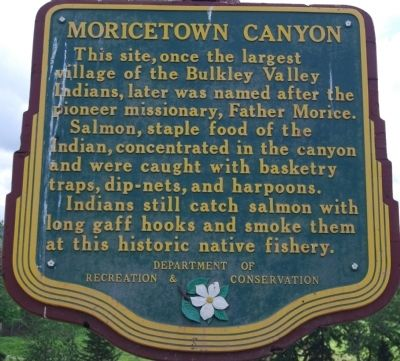Moricetown Canyon Marker image. Click for full size.
