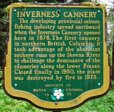 Inverness Cannery Marker image. Click for full size.