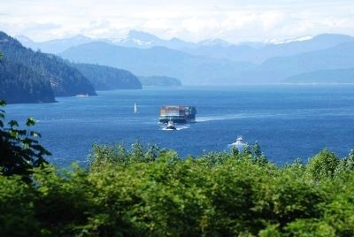 A ship moving through Seymour Narrows image. Click for full size.